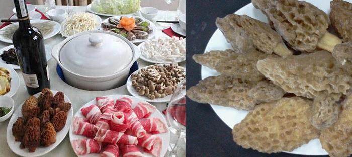Cách dùng nấm bụng dê nấu lẩu