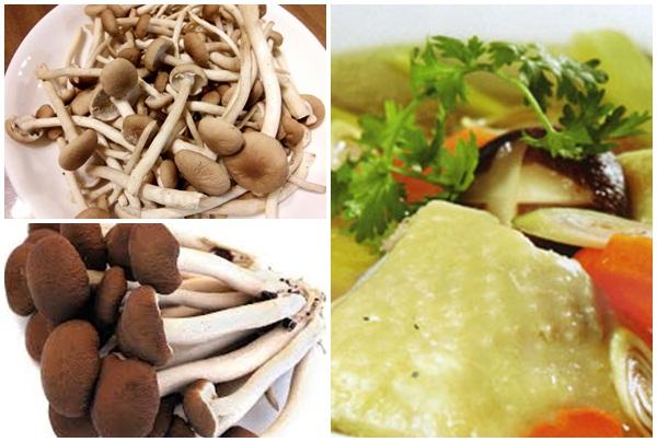 Cách chế biến nấm trà tân hầm gà sử dụng trong bữa cơm gia đình.