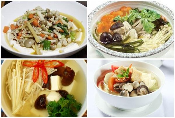 Chế biến nấm keo kết hợp một số thực phẩm khác để tạo món ăn mới lạ.