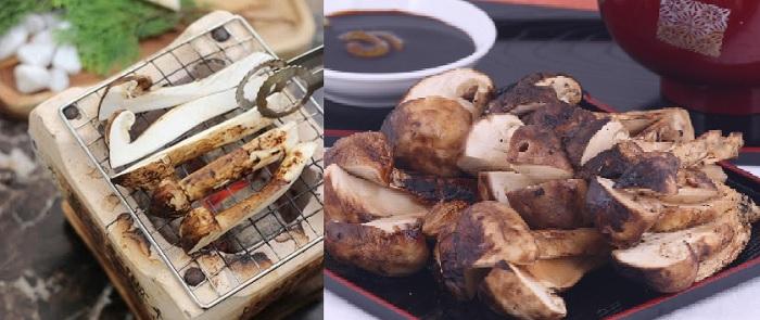 Cách chế biến nấm Matsutake nướng than hoa