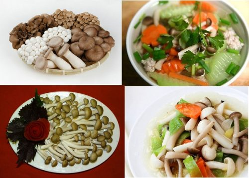 Canh nấm thủy tinh nâu thập cẩm bổ dưỡng